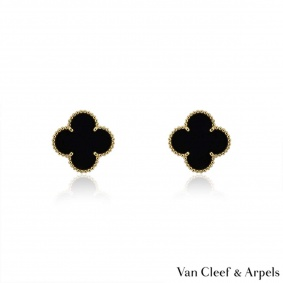 Van Cleef & Arpels Yellow Gold Magic Alhambra Earrings VCARA44300